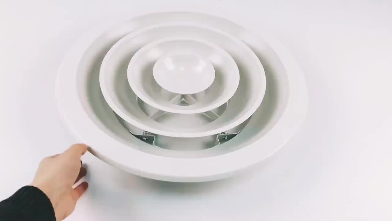 Air Conditioning Aluminum Round Ceiling air Diffuser With Removable Core