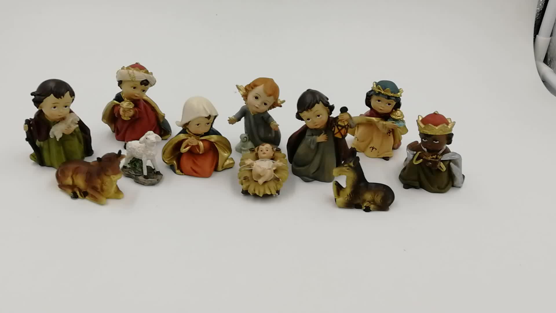 Trang Trí Thủ Công Châu Âu Phong Cách Tôn Giáo Nhựa Chúa Giáng Sinh Thủ Công