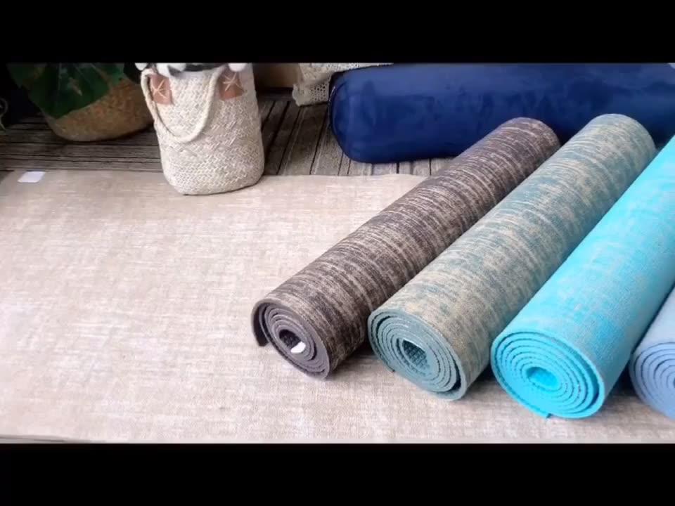 Eco Vriendelijke Hot Selling Fitness Natuurlijke Rubber Jute Yoga Mat Pvc Yoga Mat Voor Yoga