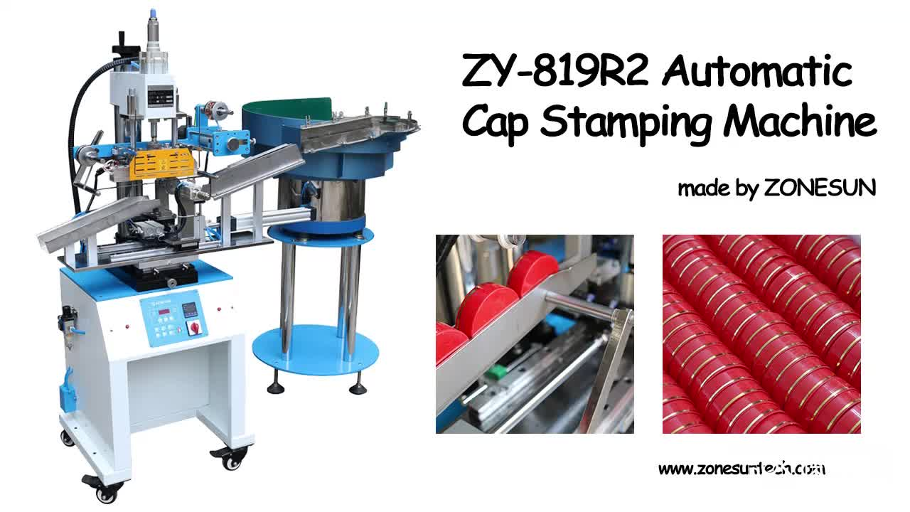 ZONESUN Customized automatic stamping machine cap and book leather auto embossing stamping machine