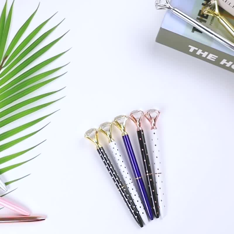 Manufacturer Metal Material and Promotional Pens Crystal Diamond Ballpoint Pen for School and Office Supplies