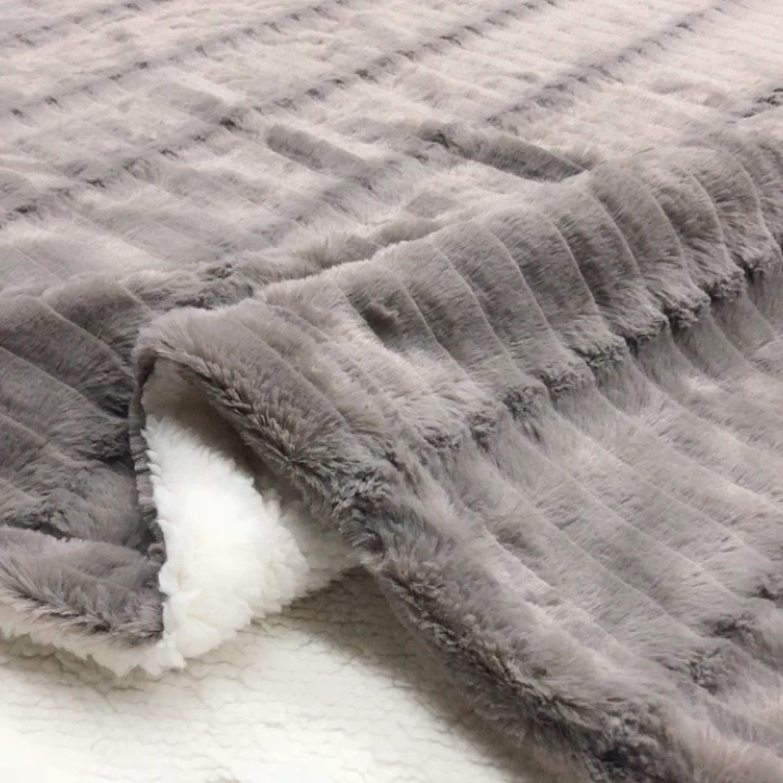 Coberturas sherpa luxuosas de pelúcia rainha grossa para escovar tv