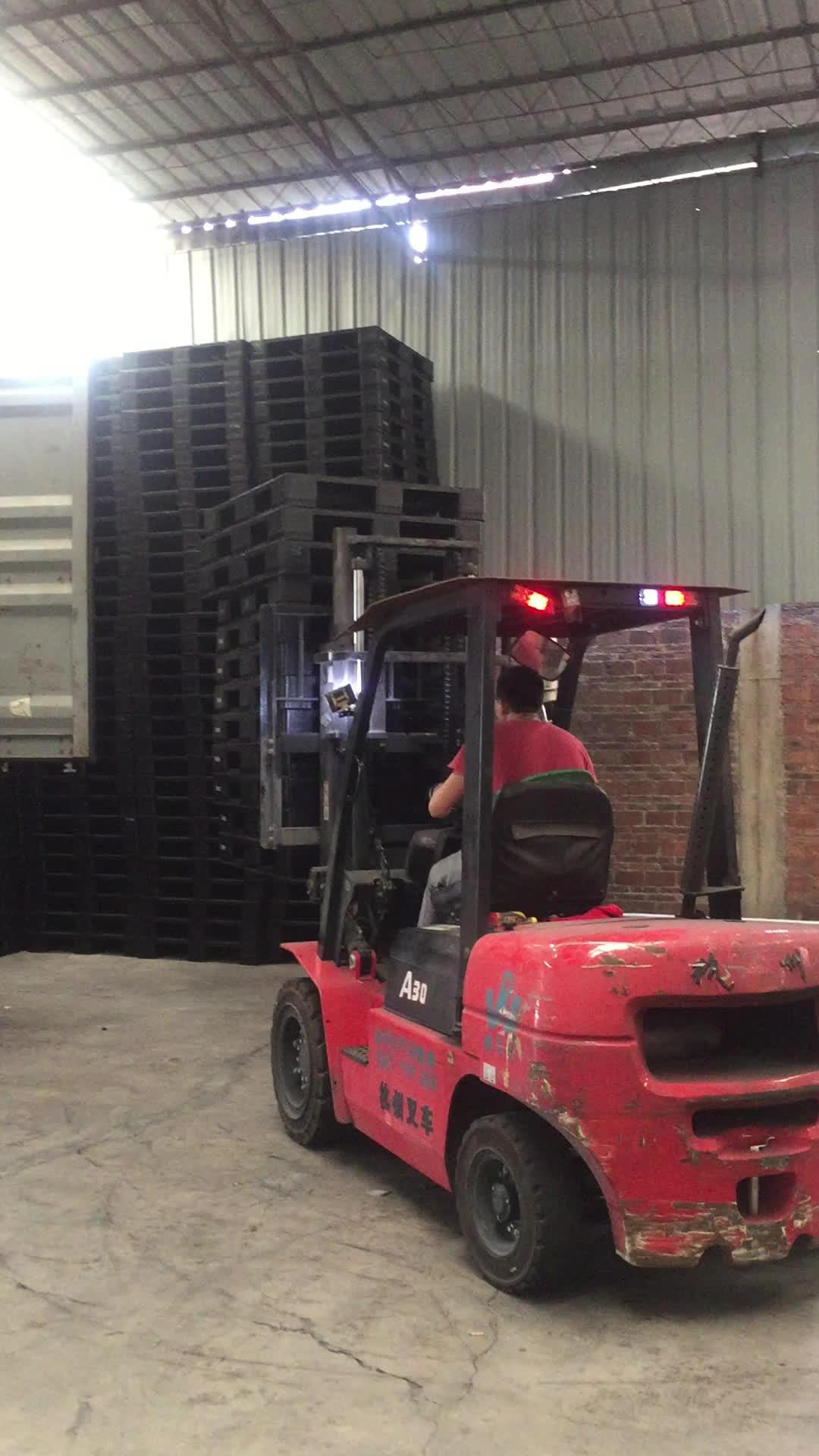 1200*1000mm pavimento di plastica pallet Double sided Reversibile HDPE In Acciaio rinforzato in plastica pallets heavy duty