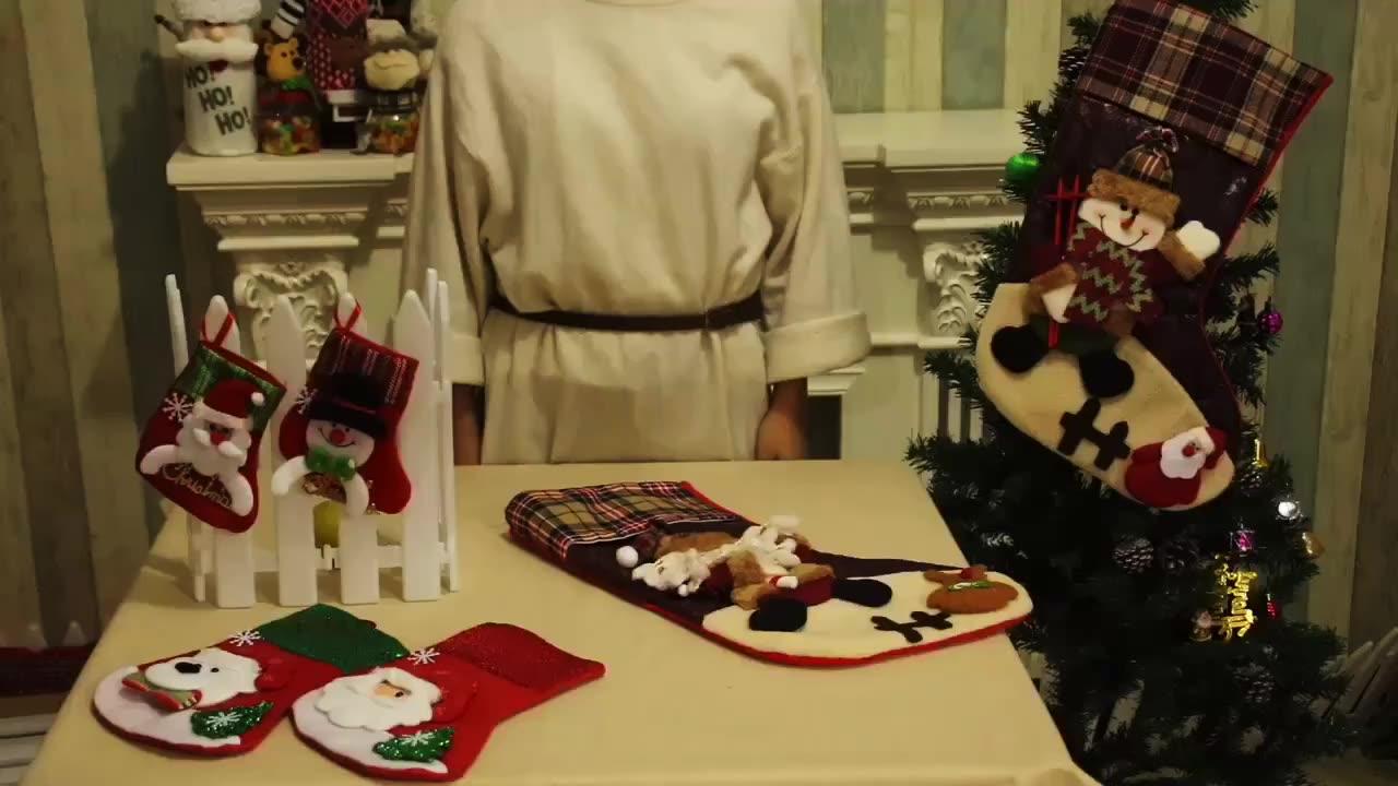 도매 만화 승화 크리스마스 스타킹 2020 크리스마스 양말 장식