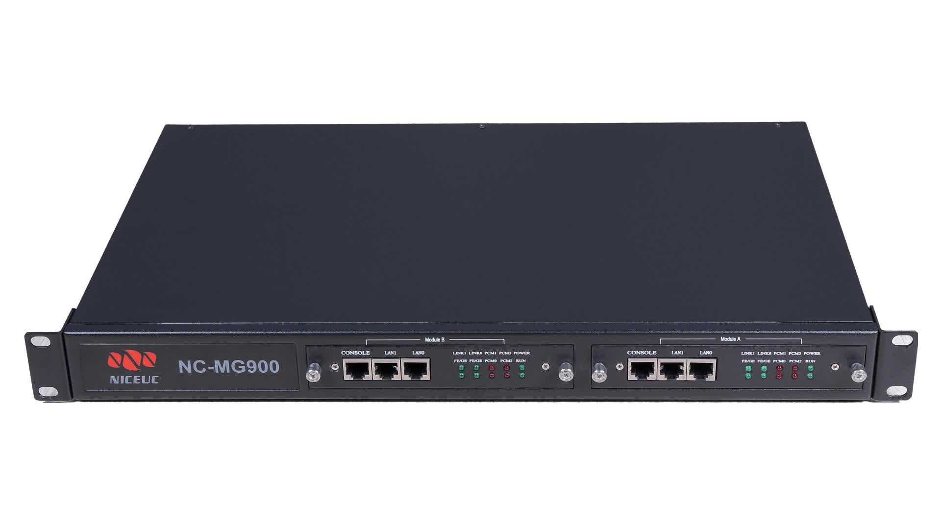 4 ポートデジタル SS7 PRI E1 トランキングゲートウェイ NC-MG900-104 VoIP ゲートウェイ
