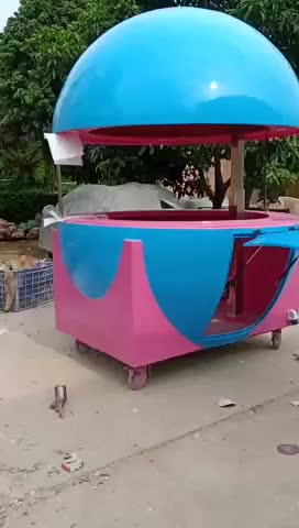 New Style Fiberglass Orange Shape Juice Kiosk,Hot Dog Vending Food Truck/Food Trailer/Food Cart