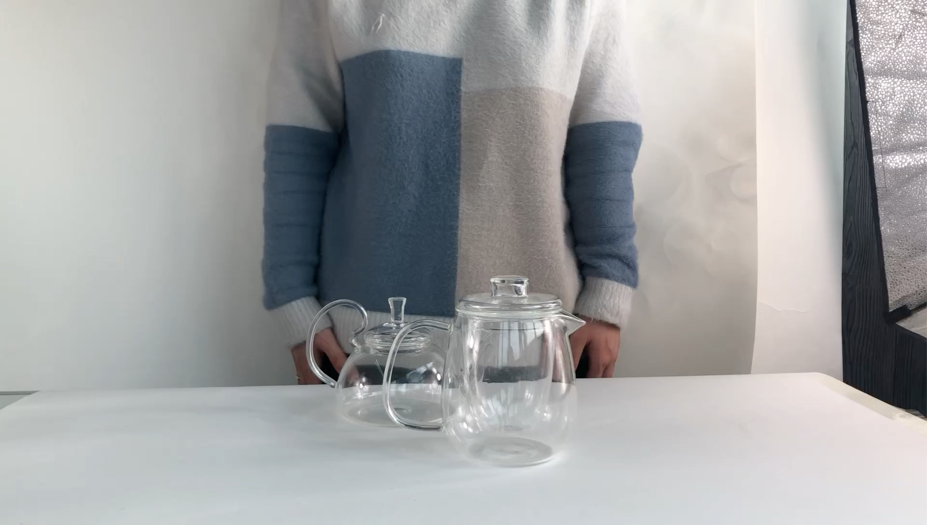 Brewing Tea Glass Kettle With Stariner And Lid,Custom Desgin