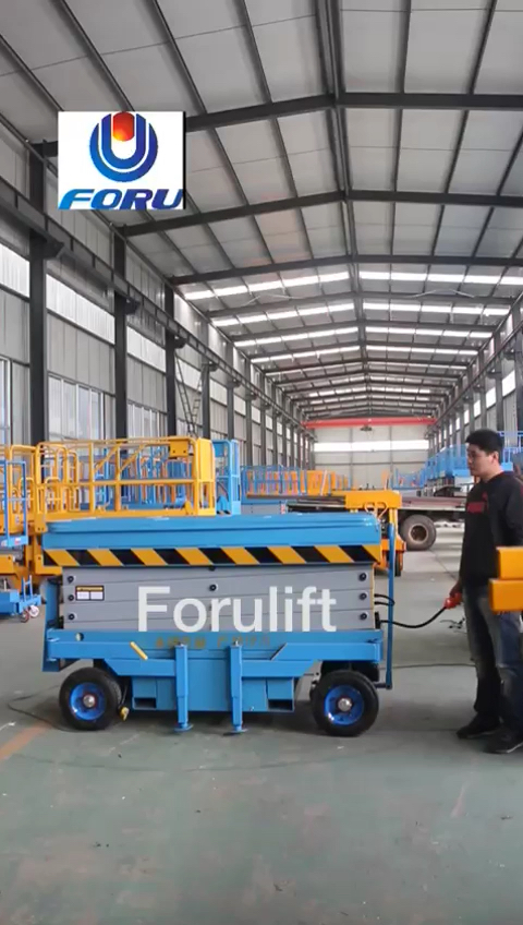 12m CE and ISO certificate hydraulic telescopic aerial work platform for container