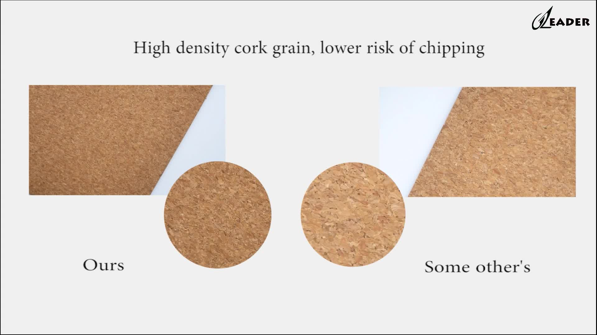 Blank printing anti slip yoga mat Cork eco-friendly