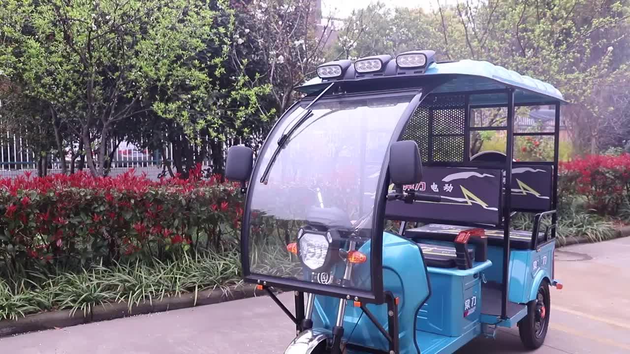 Auto rickshaw elétrica em bangladesh triciclo elétrico