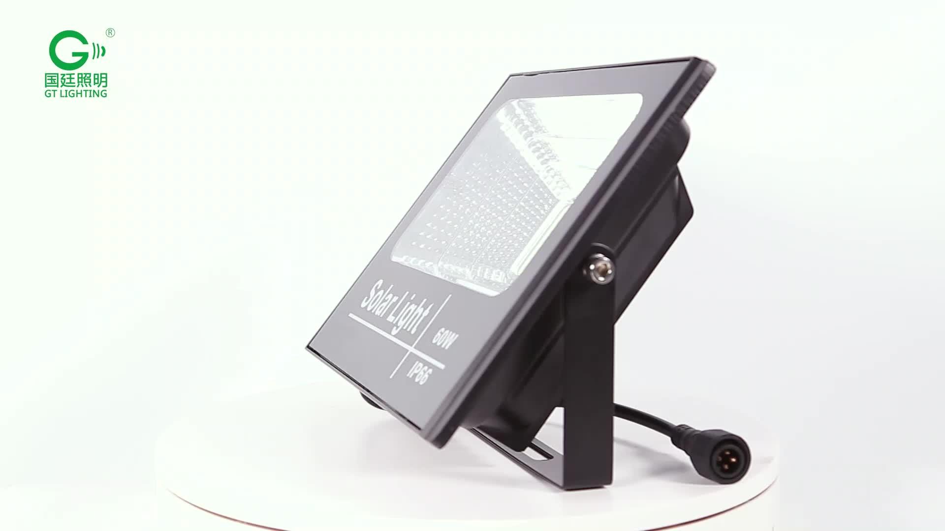 Factory direct sale aluminum glass SMD waterproof ip67 25 40 60 100 200 watt solar led flood light