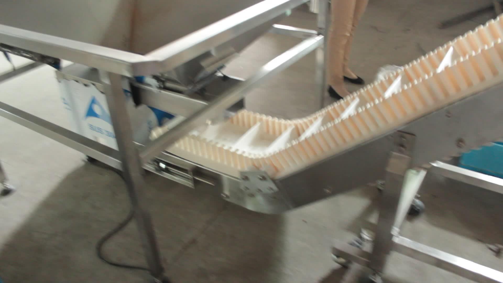 Material Handhabung Ausrüstung Lebensmittel Transfer Förderband/Weiß Lebensmittel Grade Förderband