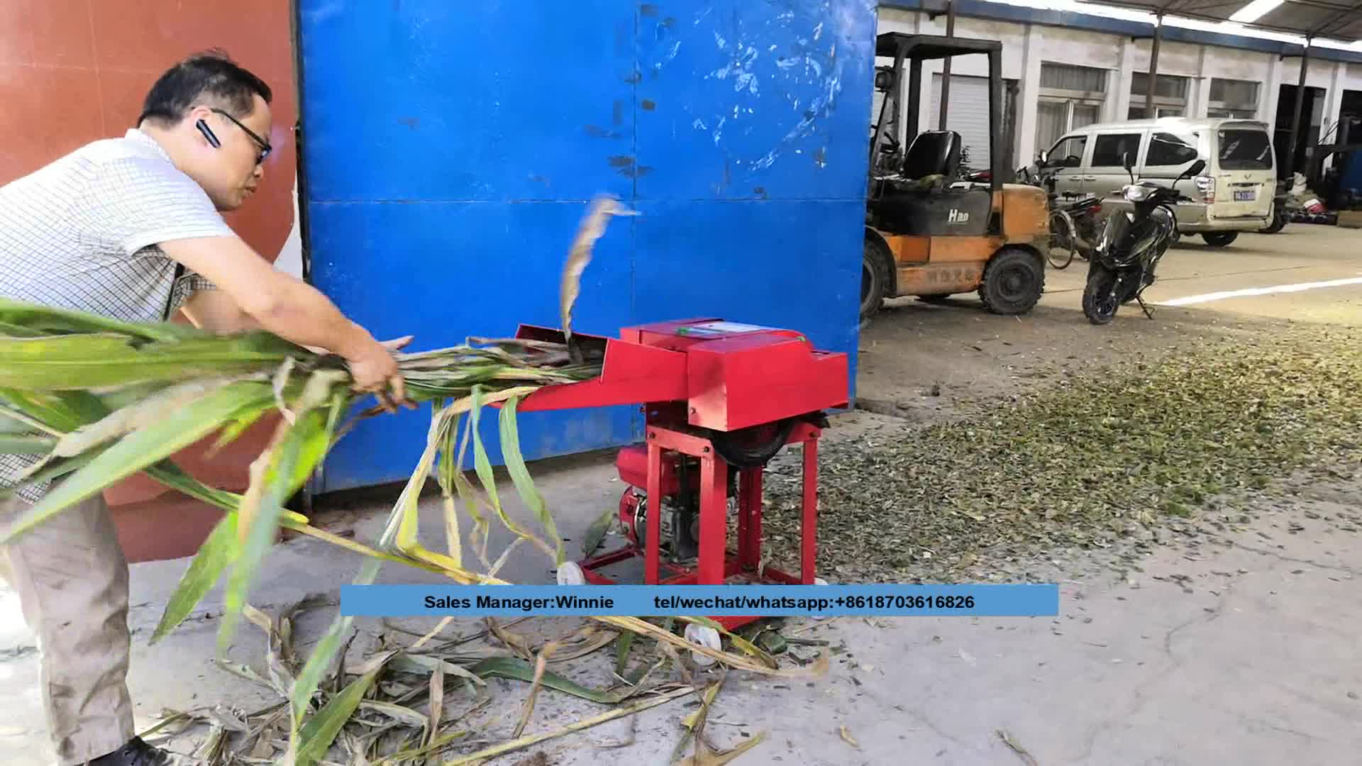 Portable Chaff Grass Cutter Cutting Machine India Chaff ...