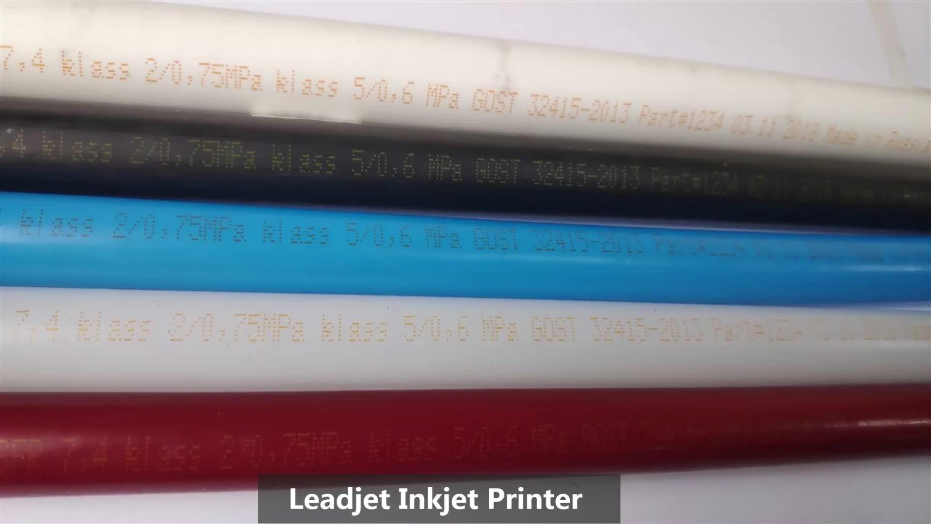 Leadjet cij Lot Numarası Seri No. Mürekkep Püskürtmeli Yazıcı Baskı PVC PP PET HDPE malzeme