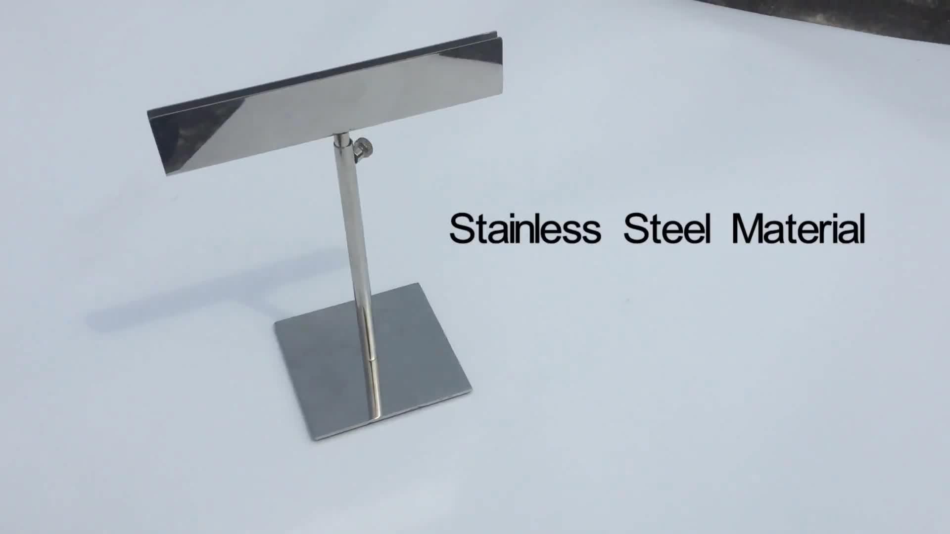 Adjustable Height Metal Frame Pedestal A4 Poster Stand Sign Holder Display