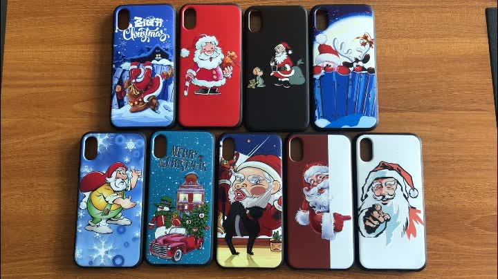 For iPhone Xs Max UV Printing Customized TPU Soft Phone Case Christmas