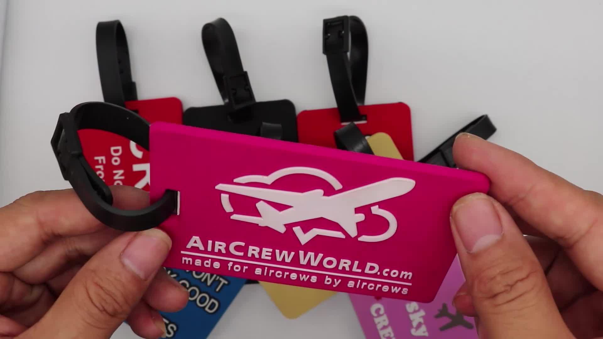 De Viaje de PVC bolsa de equipaje Etiqueta de maleta de plástico equipaje Oficina ID Nombre Dirección etiqueta