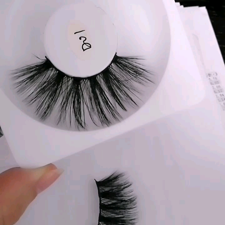 Handmade Private Label Faux False Silk 25mm Lashes 3D Mink Eyelashes  Private Label Synthetic Silk Lashes False Eyelashes Vendor