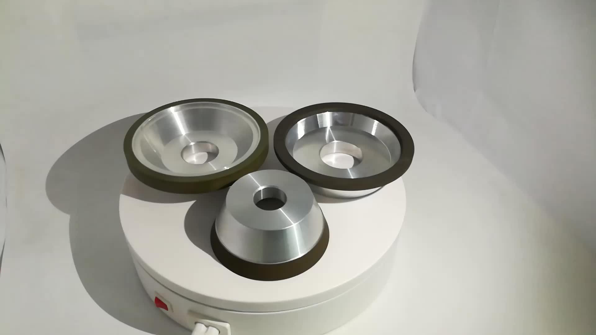 세라믹 본드 CBN 다이아몬드 평행 휠 9 인치 Pcd 컵 휠