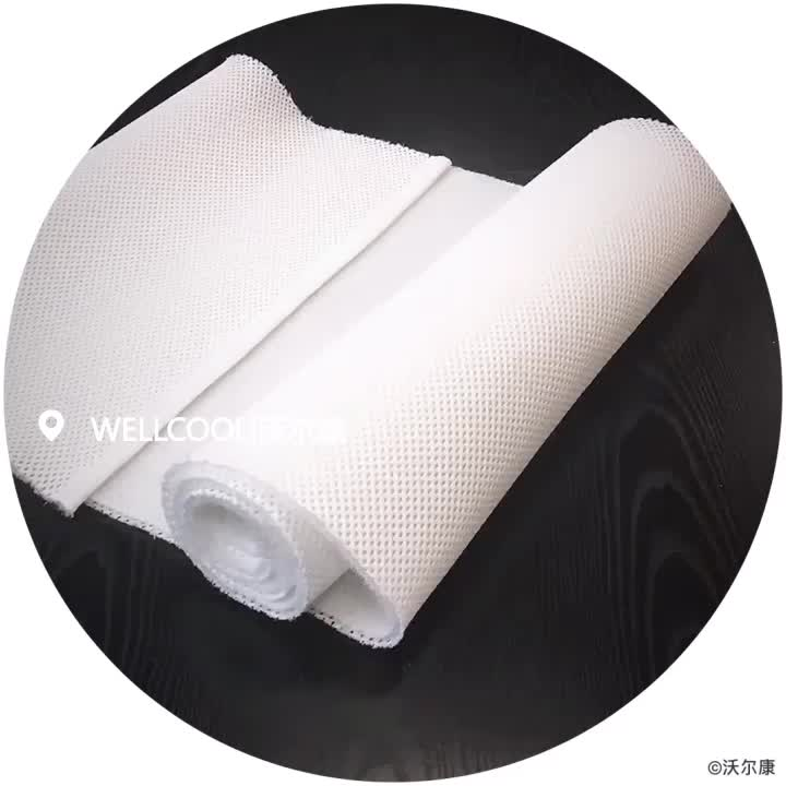 wellcool 3d spacer mesh mattress border sandwich fabric