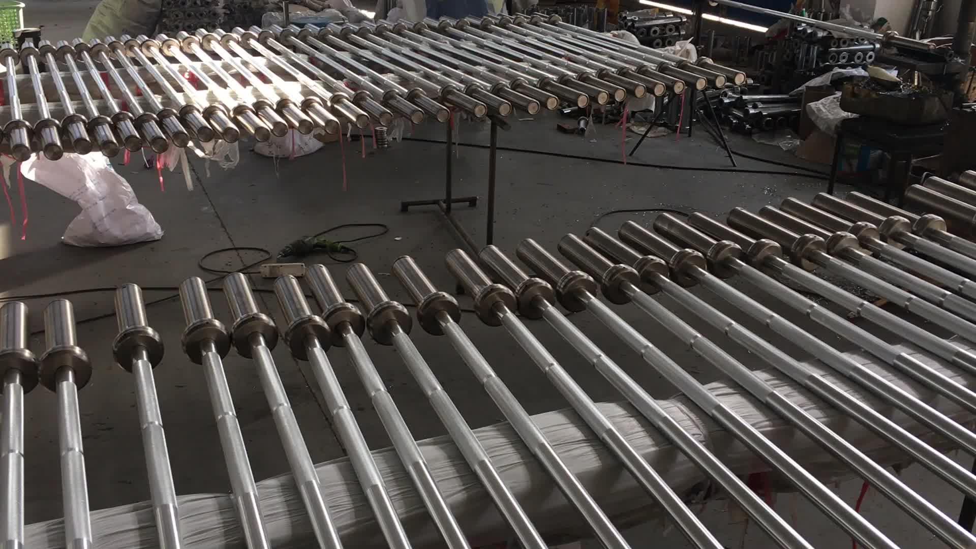 ขายร้อน Professional การฝึกอบรมอลูมิเนียมน้ำหนักยก barbell