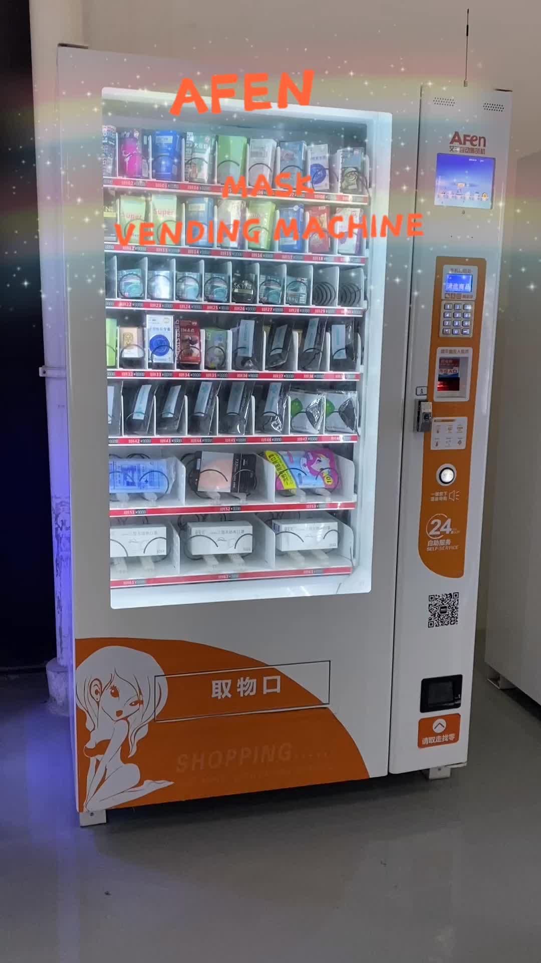 Luvas e máscara AFEN varejo tomada de máquina de venda automática com leitor de cartão