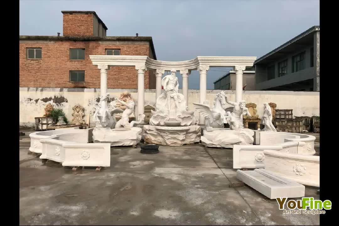 Hand Carved Marble Luxury Water Fountain For Garden