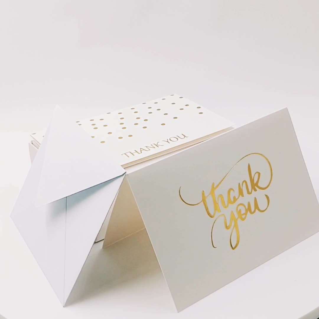 100PCS/48PCS/36PCS Popular Happy Birthday Greeting Card Thank You Greeting Card With Paper Envelope