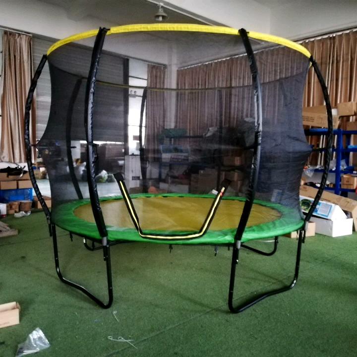 Sundow Jumping Bed Trampoline With Safety Net,10Ft Bungee Big Children Trampoline