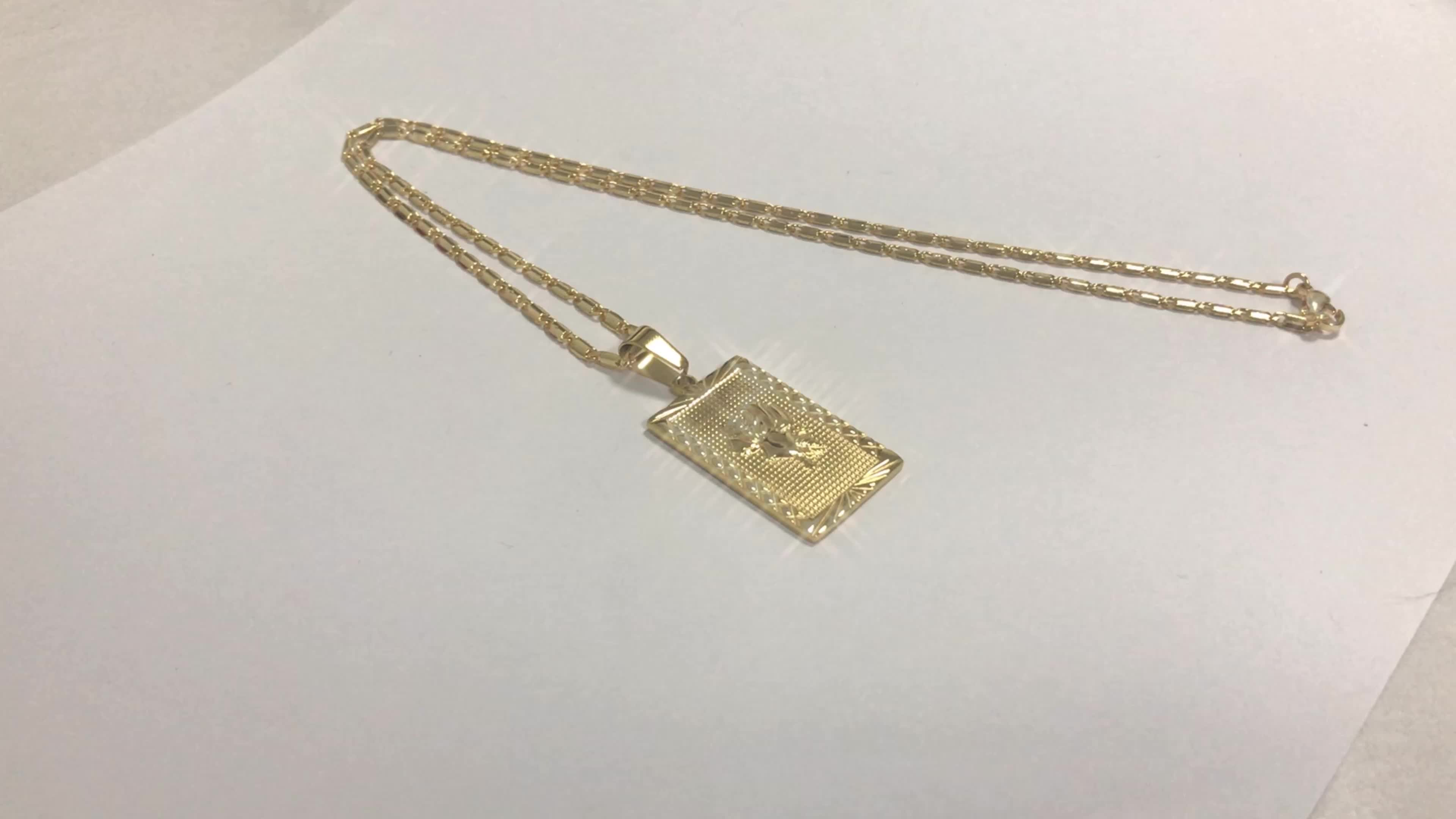 Everly Rose Pendant Necklace, Plain Gold Necklace