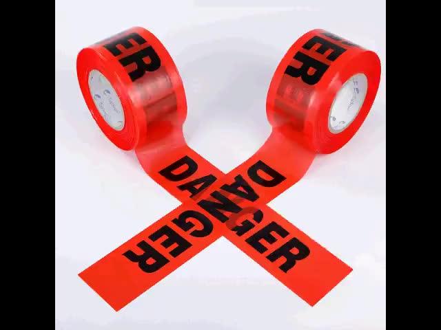 مخصص المطبوعة 3 بوصة وسم و شريط تحذيري s المتراس المخاطر شريط تحذيري