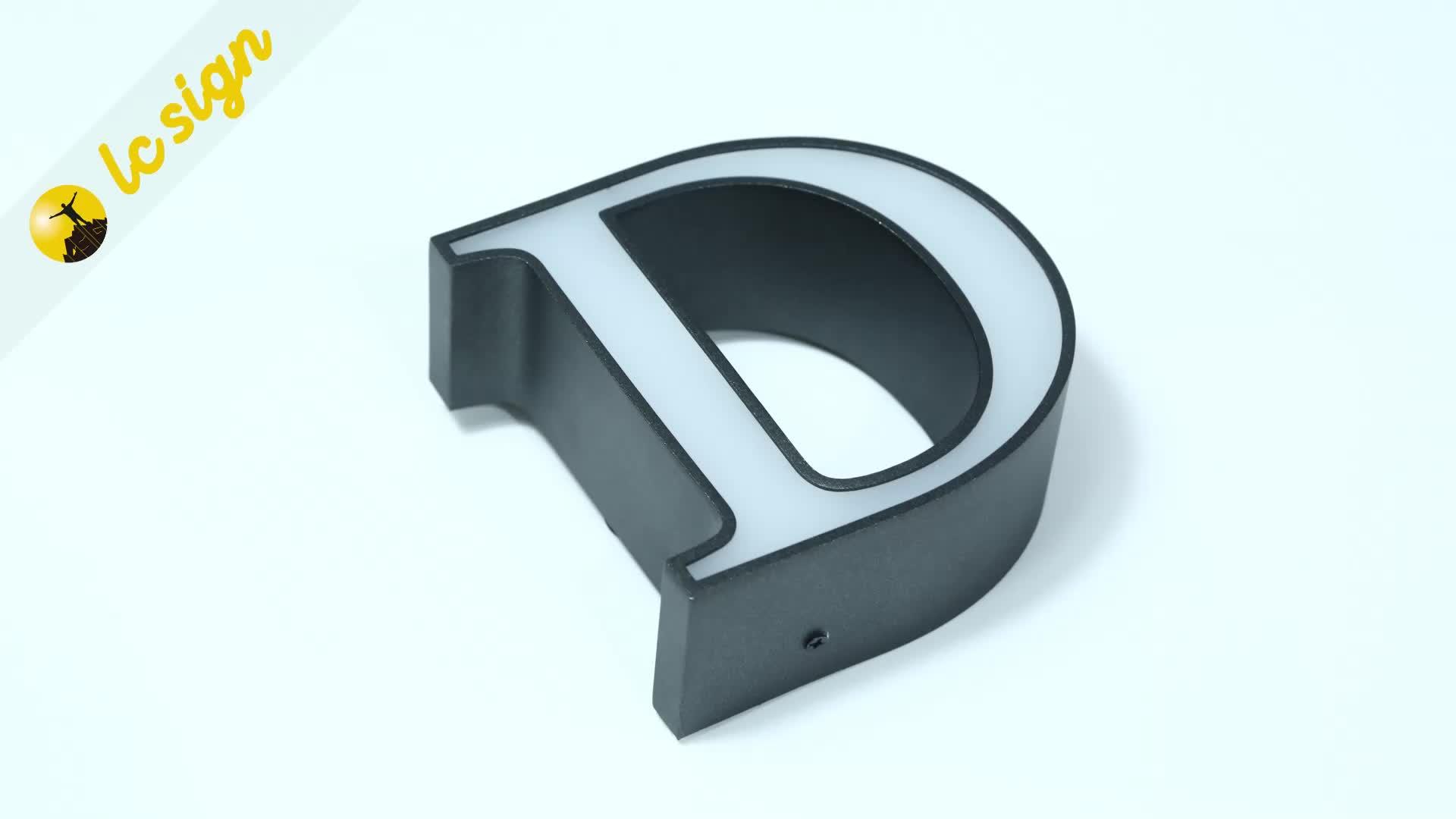 Led logotipo personalizado cartas libre de pie de plástico letras del alfabeto de señal de los fabricantes