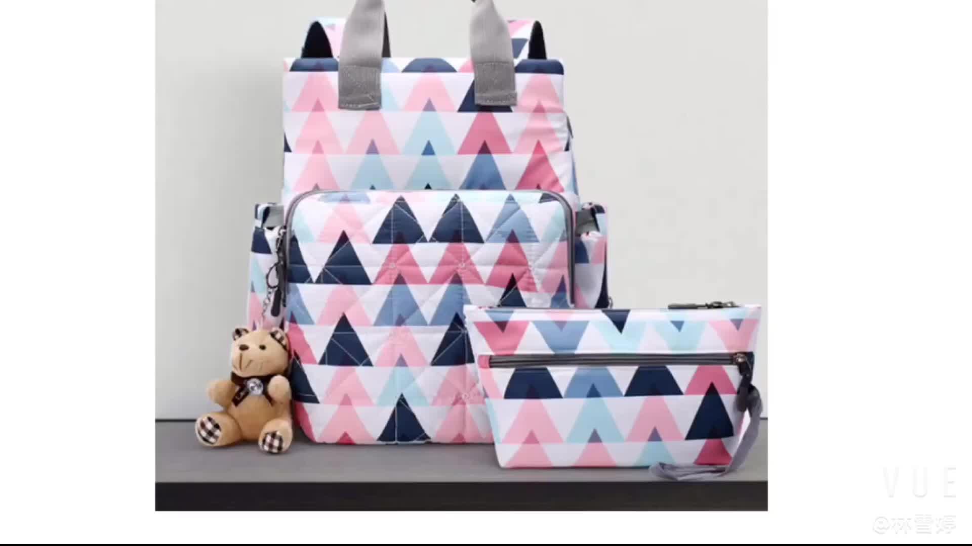 JUNYUAN Waterproof Multifunction Large Capacity Mummy Nappy Backpack Baby Diaper Bag