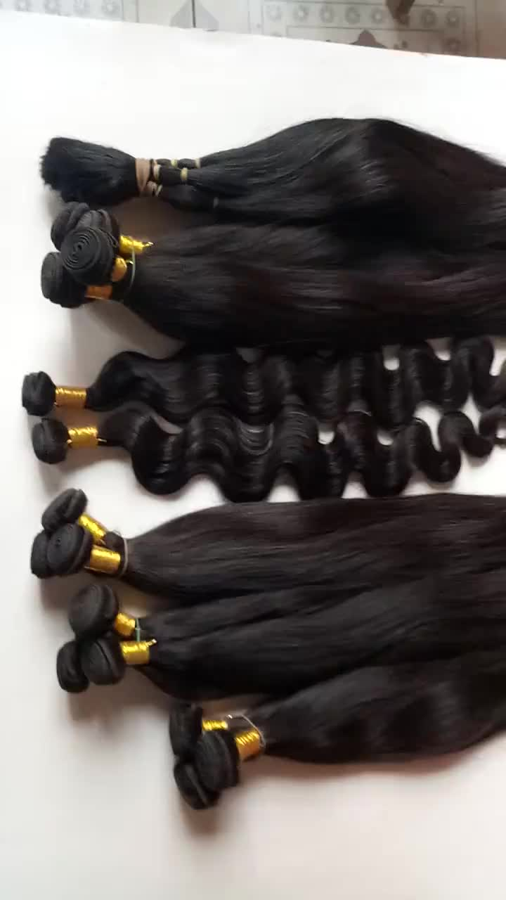 Customized Color and Length Peruvian 100% Virgin Human Hair Weave Brands Straight Wholesale Hair Weaving Extensions For Women