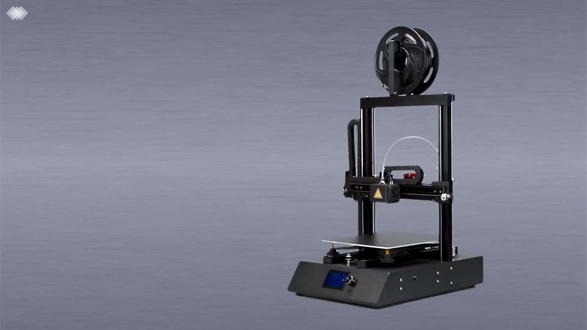 Hoge precisie ingebouwde dual-as lineaire gids rail FDM 3D printer Bluetooth Reprap Prusa I3 3D desktop DIY printer met PLA