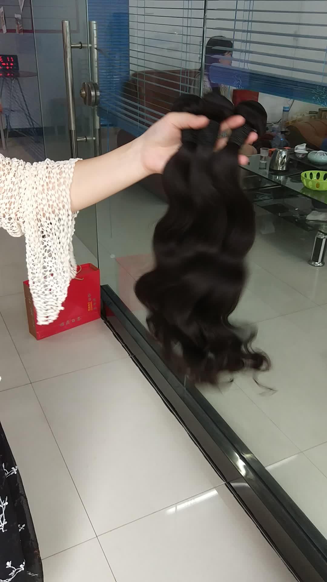 TD-Haar dezelfde dag verzending raw virgin braziliaanse Human Hair bundels cuticula align haar met top kwaliteit voor groothandel
