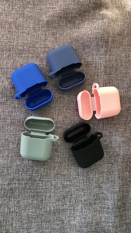 Silicone colorato Earpod Caso Accessori di Protezione Resistente Agli Urti Della Pelle Del Silicone Del Trasduttore Auricolare per il Caso di Apple Airpod