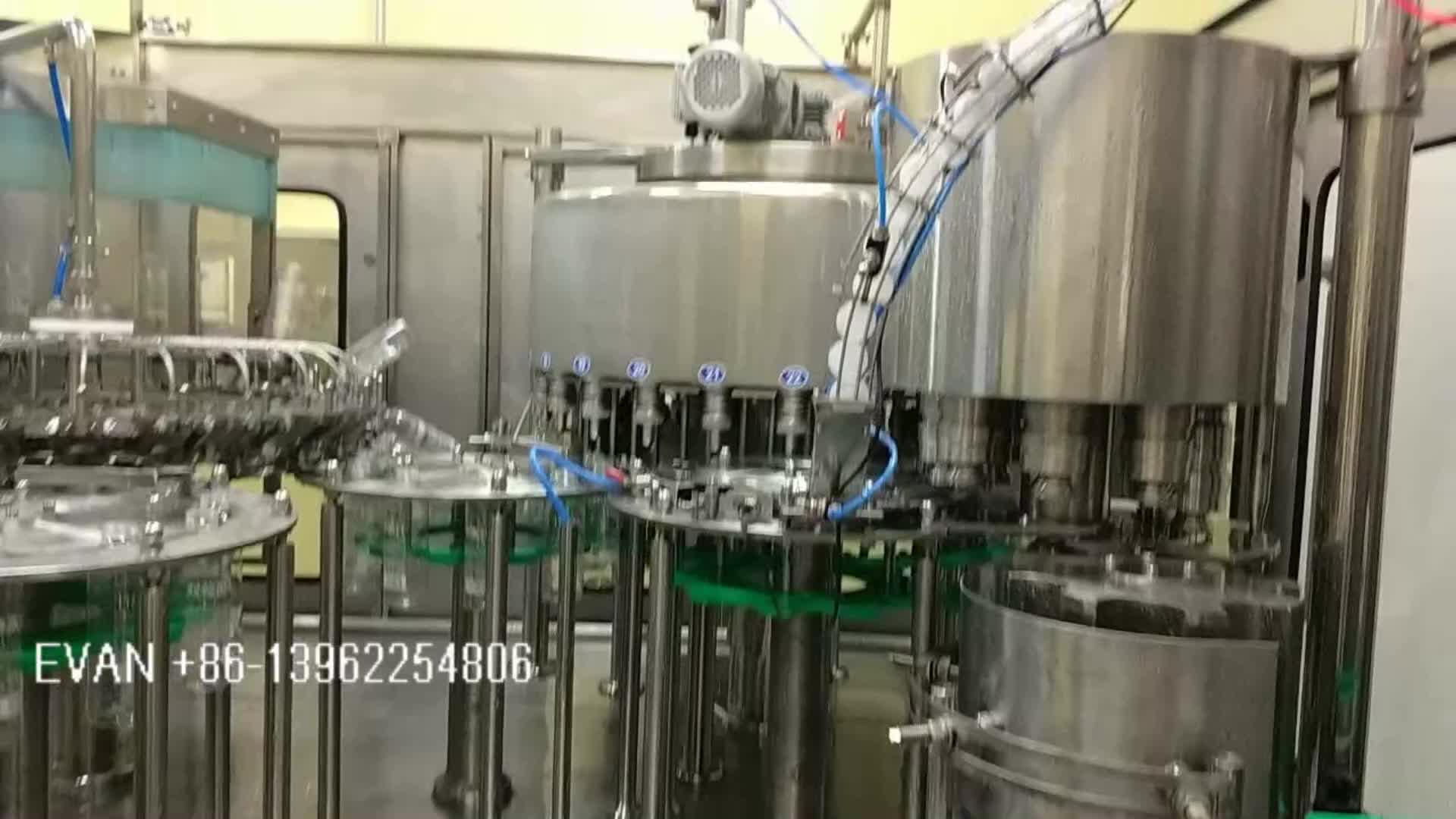 Garrafa de suco que faz a máquina para a garrafa PET de enchimento de garrafa de vidro