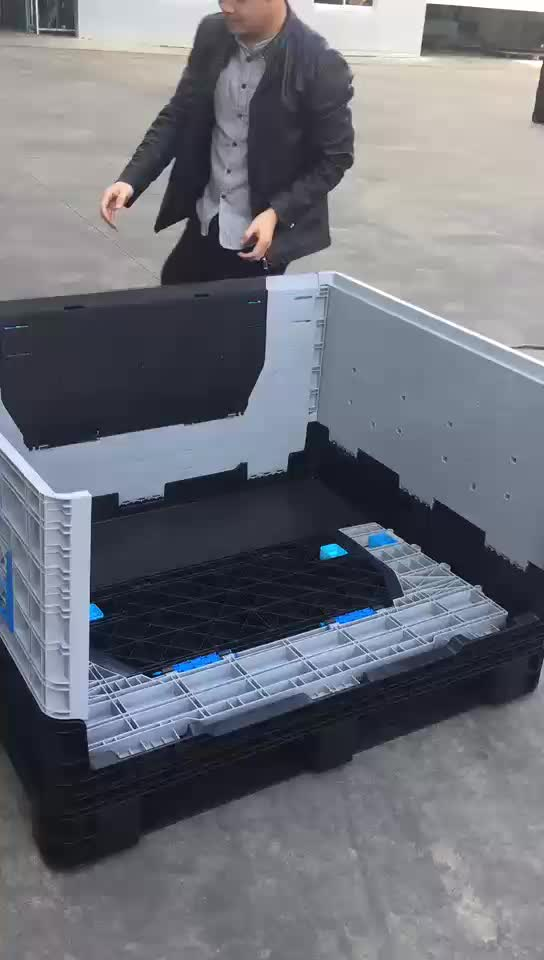 High quality stackable large folding plastic crate