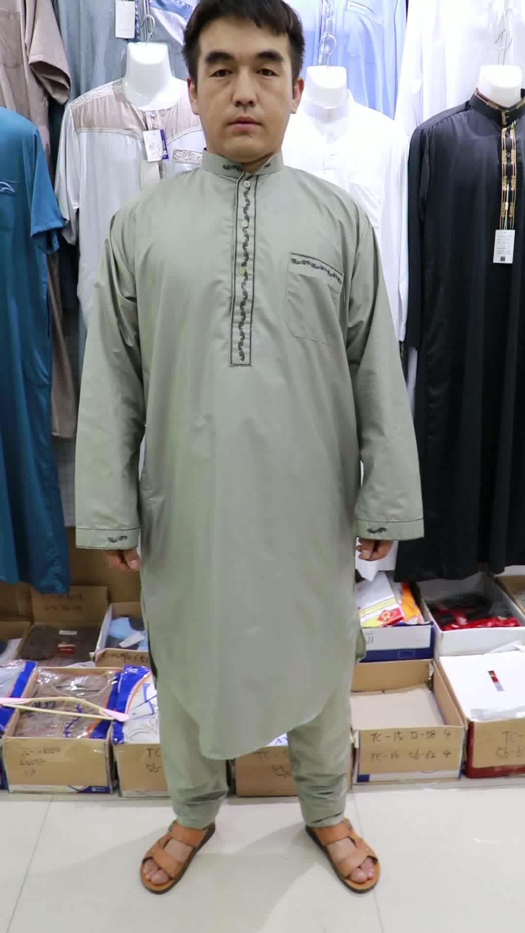 2019 Nuovo Disegno ikaf marocco thobe musulmano per gli uomini islamico thobe