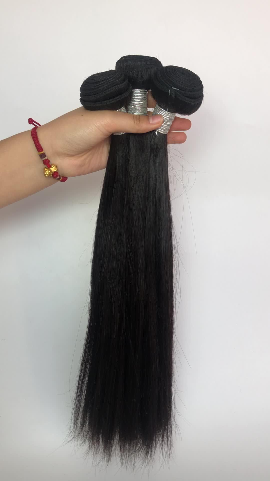 100% Nertsen Braziliaanse Menselijk Haar Bundels, Beste Haar Vendor Haar Braziliaanse, Qingdao Haar Fabriek Maagdelijke Braziliaanse Haar
