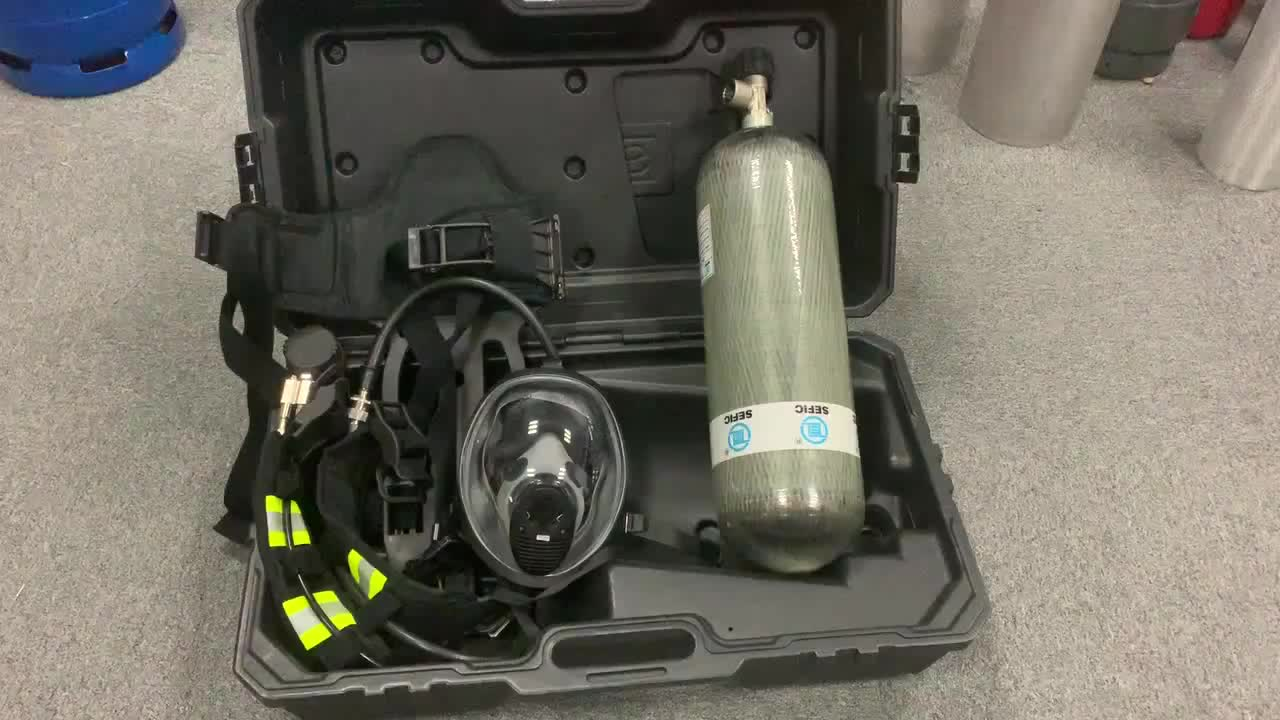 Self-Contained Open-circuit Compressed SCBA Air Breathing Apparatus For Fire Fighting Equipment