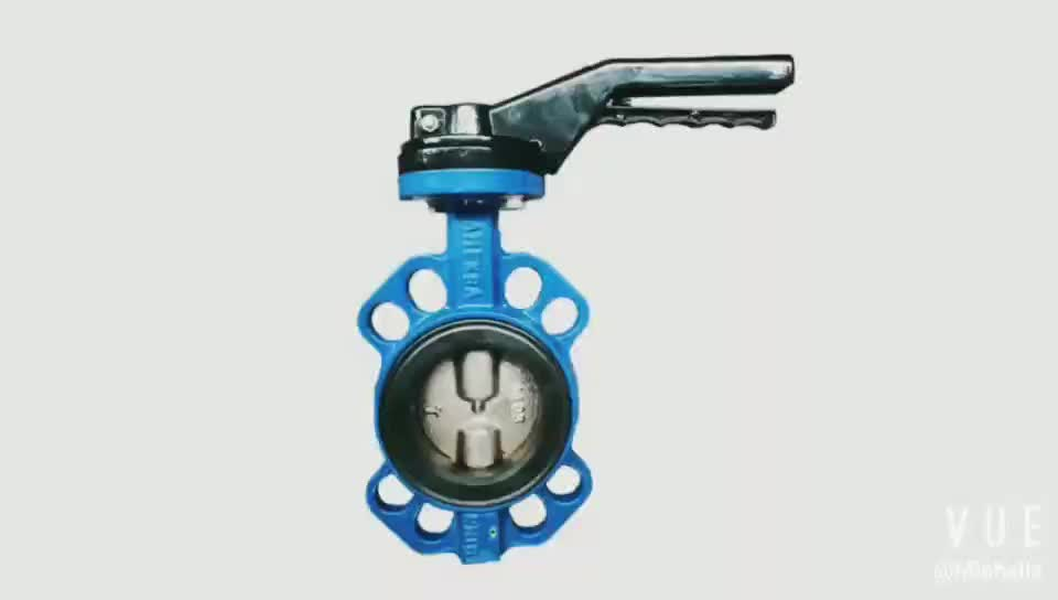 PN16 Cast Iron Wafer Type Air Ducting Manual Butterfly Valve