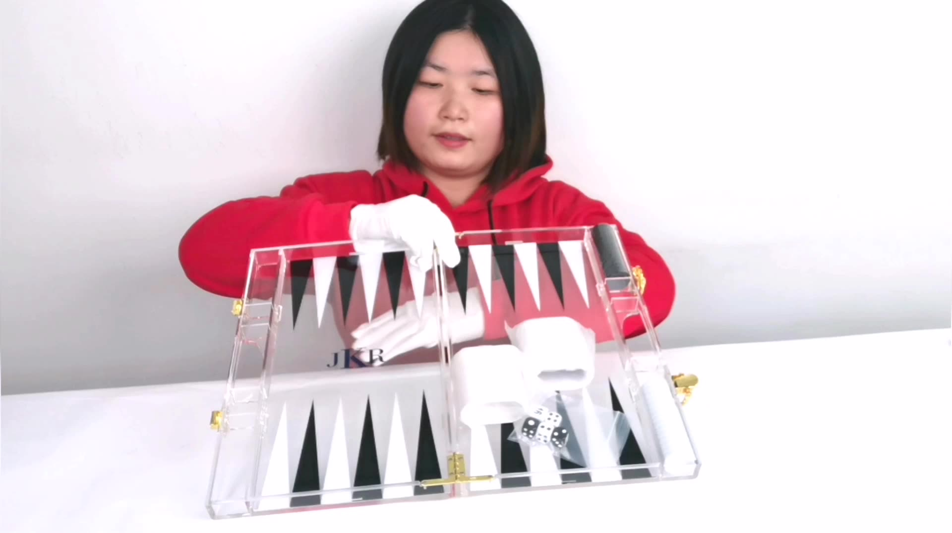 Zes-Zijdige Druppel Testen Gift Box Verpakt Backgammon Voor Koop Backgammon Board Game Acryl Backgammon