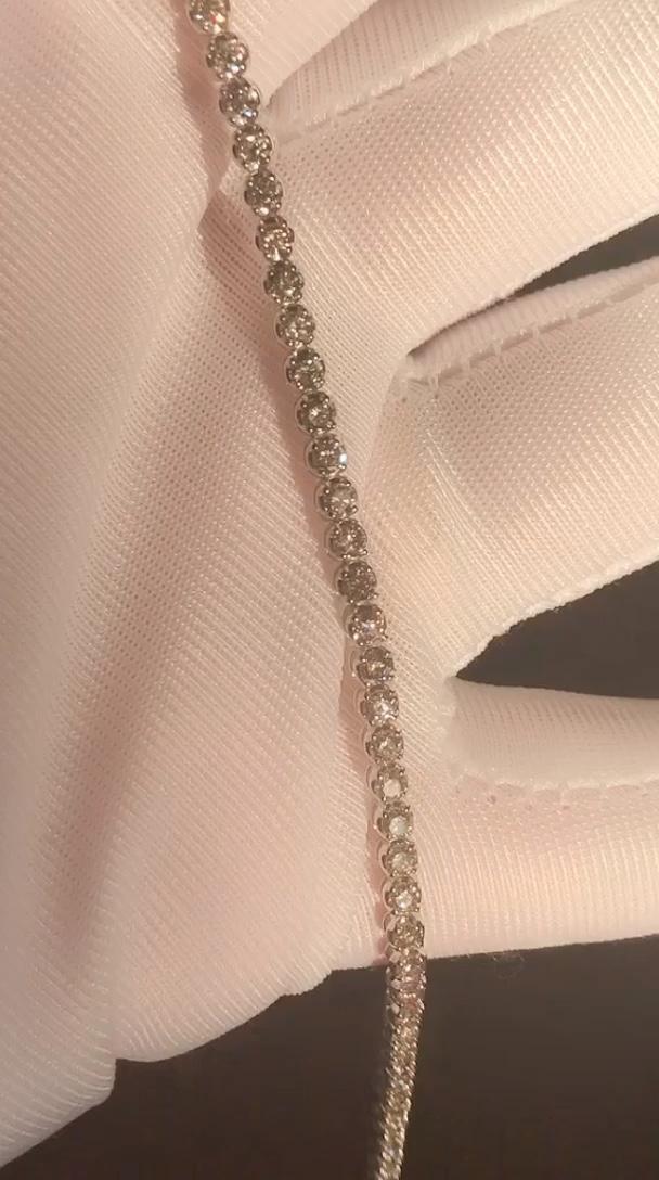 9K 골드 Moissanite 다이아몬드 테니스 팔찌 쥬얼리