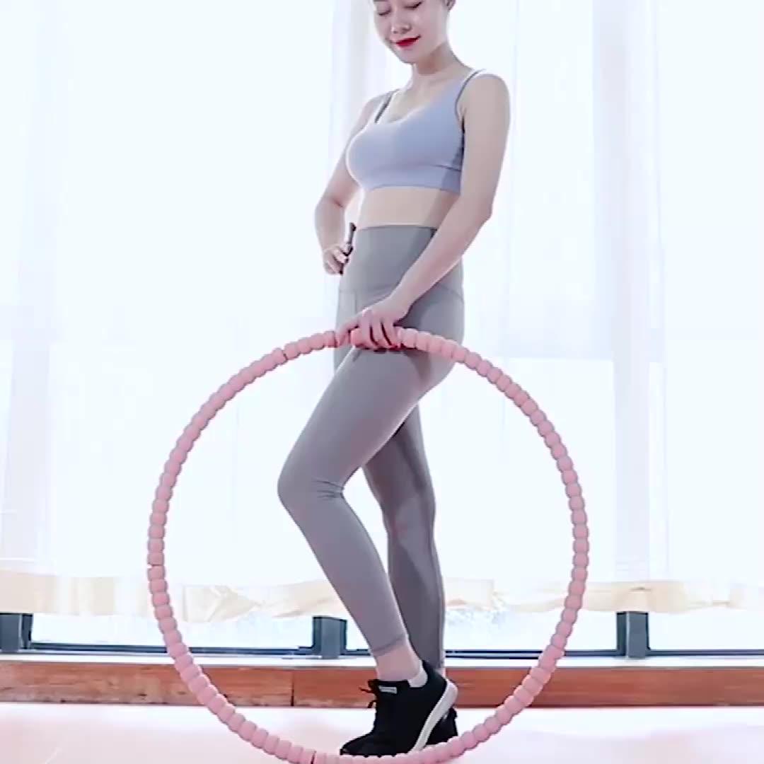ฟิตเนสถอดโฟมHulaแหวนผู้ใหญ่Gymnastic Ring Body Building HulaวงกลมบางเอวHulaห่วง