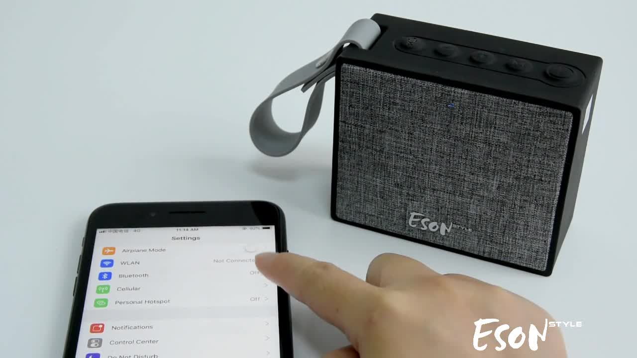 Eson Style voice controlled speakers Bluetooth waterproof IP66 Amazon Certified portable alexa eminence speakers