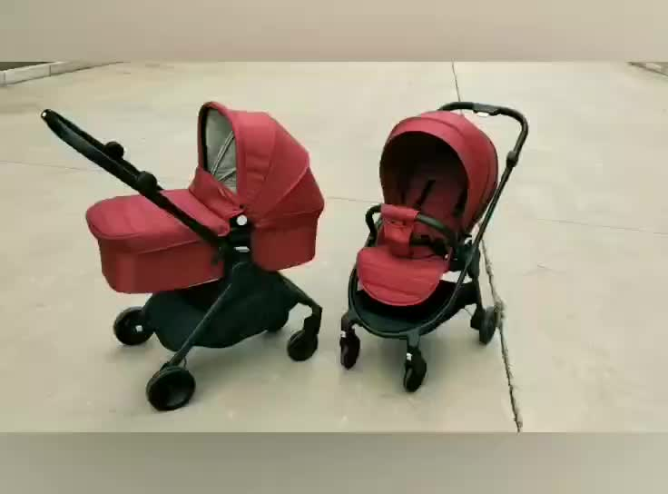 3 In 1 Reversal Bidirectional One Hand Foldable Baby Carriage Strollers