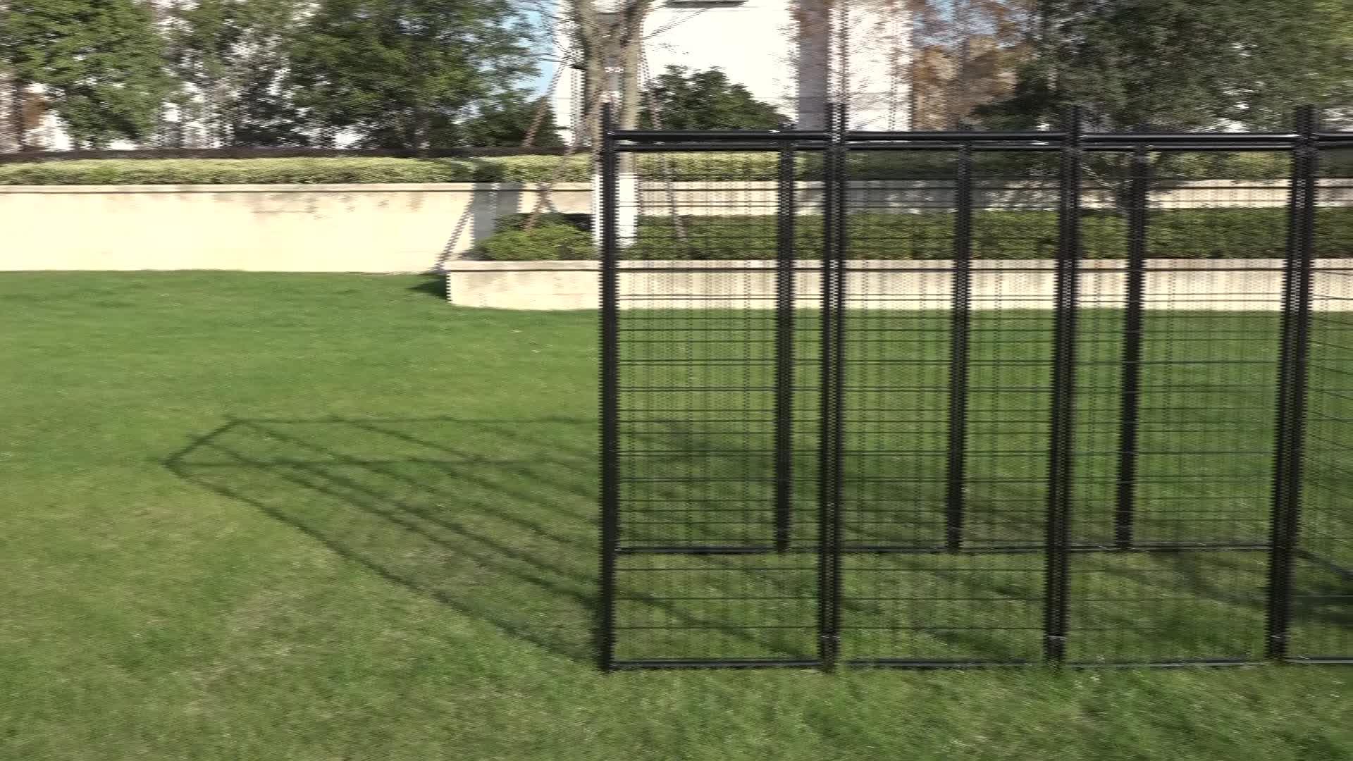 סיטונאי מותאם אישית חיצוני ומקורה כבד החובה מתכת העלאה כלב מלונה עם נעילת כיסוי