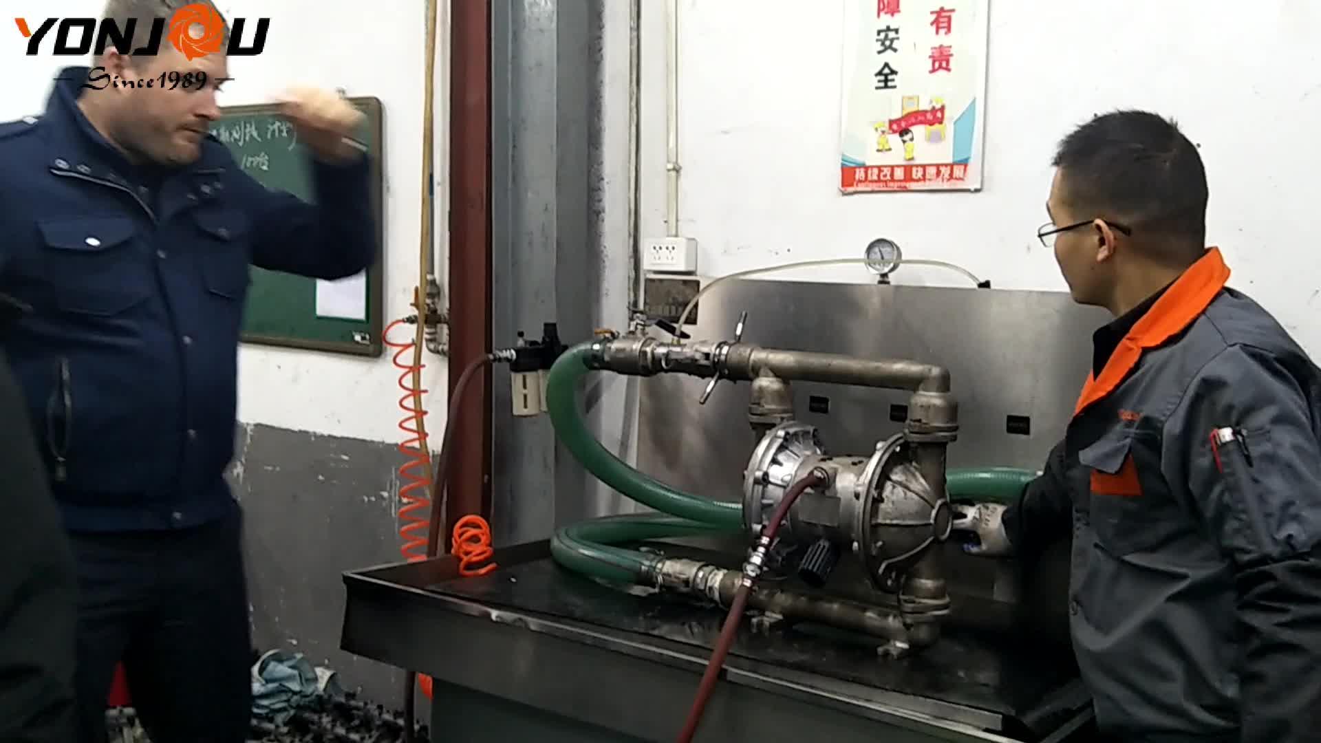 QBY 2inch pneumatic acid plastic air diaphragm pump